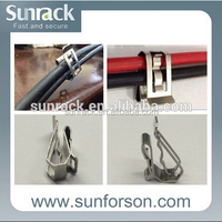 Solar panel stainless steel material support frame wire clip