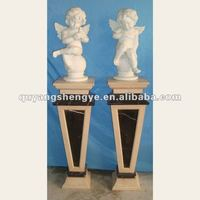 Beautiful angle children stone carvings