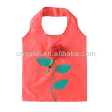 rose fold shopping bag 190T polyester(CF016)