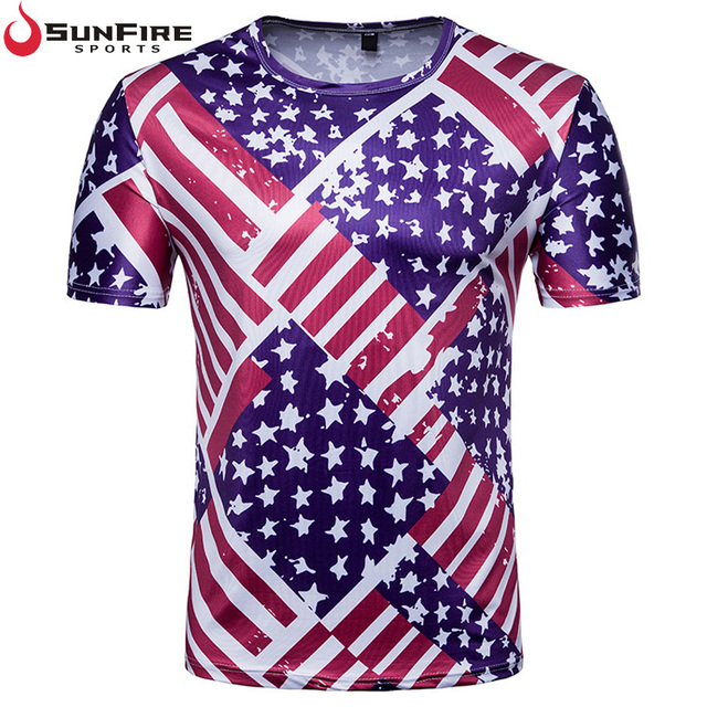 2018 Russia football world cup soccer America fans manufacturer sports fit t shirt