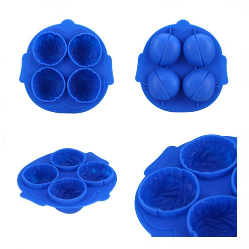 novelty silicone brain ice tray mold