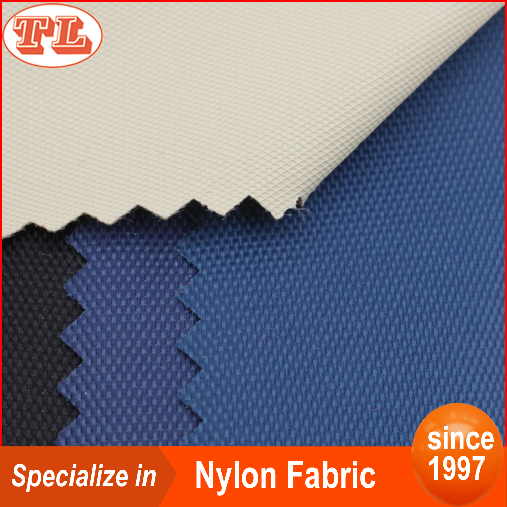 420D nylon fabric diamond PVC pattern for backpack