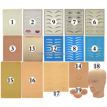 Eyebrow Lip Permanent Cosmetics Training Tattoo Practice Skin for Microblading