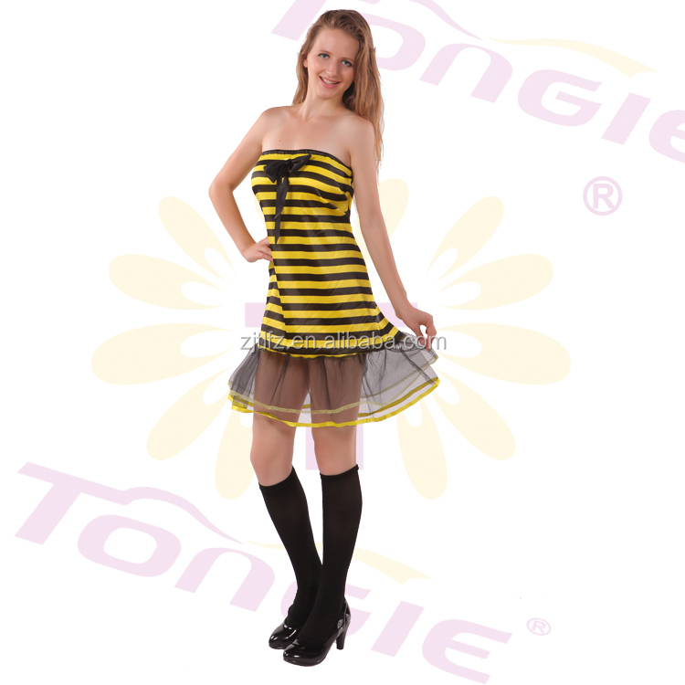 2015 Newest Yellow Bee Sexy Adult Animal Movie Costume cosplay costume for women