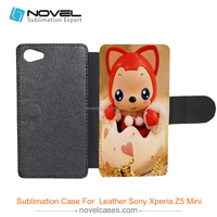 Universal hiqh quality sublimaiton PU Leather Case Cover for Sony Z5 mini