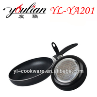 Aluminum black Non-stick coated fry pan frying pan used on induction base top