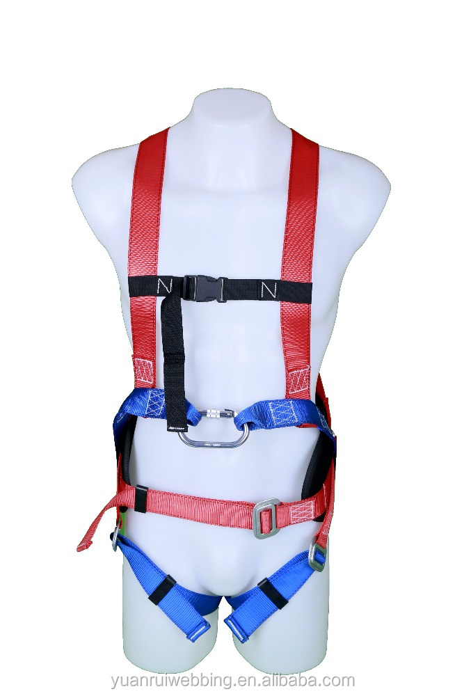 Climbing and running fall arrestors safety harness