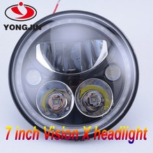 "Led headlight 7"" angel eyes led hadlight 7 inch round led headlight 12v 24v"