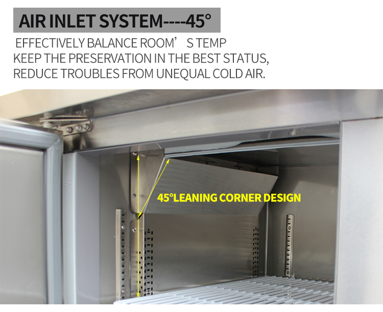 LVNI Singapore used 1.5m frost-free horizontal under counter freezer for meat fish