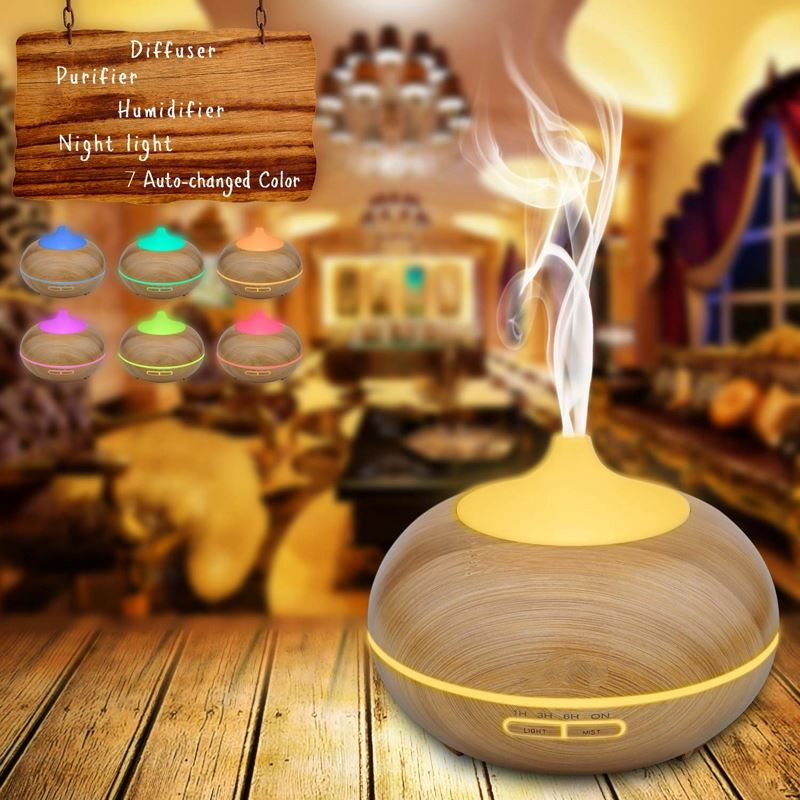 Home appliance Air Cool Mist Wood Grain 150ml Aroma Diffuser