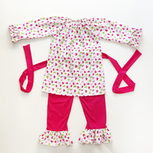 New design yiwu wholesale clothing Valentine's day children suit baby girls heart clothes