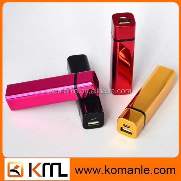 Factory price Promotional Gift lipstick emergency mobile phone charger 2600mah