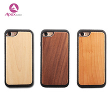 Small MOQ Wholesales Mobile Phone Sehll Soft TPU Bumper Wooden for iphone 8 Cases