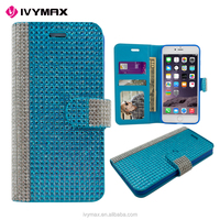 IVYMAX guangzhou cell phone accessories 2 tone wallet case for apple iphone 7 plus