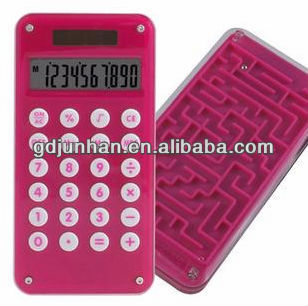 pocket battery calculator with maze game