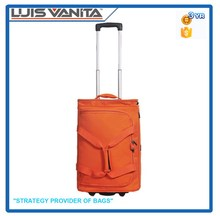 Top Quality Cool Orange Travel Bag on Wheels