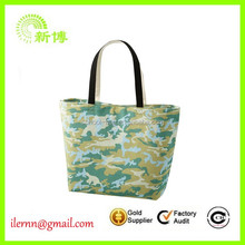 Women daily eco 100% cotton fabric shopping tote bags