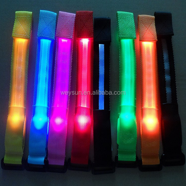 Nylon LED Sport Jogging Glowing Wrist Strap Band Watchband Flashing Bracelet For Birthday Party Festival <strong>Decor</strong>