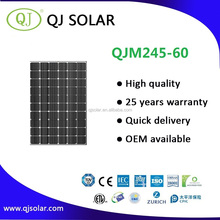 245W Mono solar panel solar pv module for commercial solar system