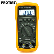 Best sell protmex pt8233d low price handheld auto ranging ac dc digital multimeter diode continuity frequency tester