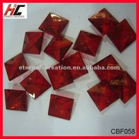 red flat bottom cone beads