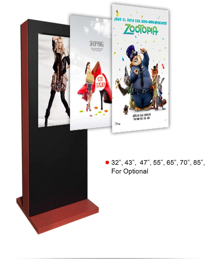 49 inch outdoor advertising LCD display,waterproof video player,bus stop billboard,touch screen kiosk