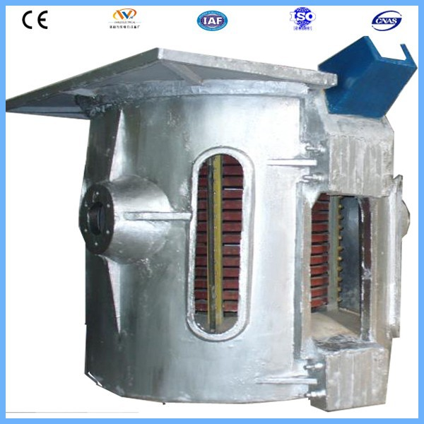 150kg pig iron electric induction crucible machine with aluminum shell