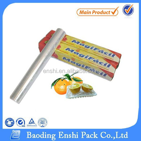 plastic wrap transparent soft PE cling film for food packaging