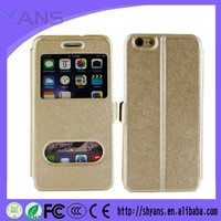 Luxury PU Leather Silk Pattern Flip Cover Case For Apple Iphone 4 4S