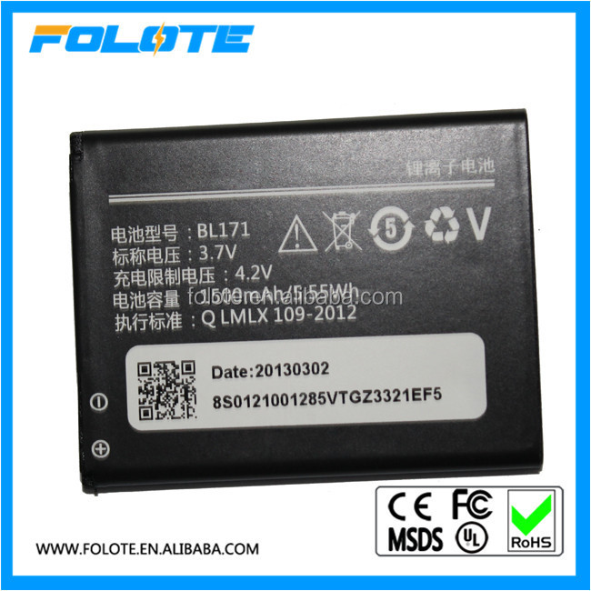 New original Battery For Lenovo A60 A65 A500 A356 A376 A390 A390T A370E BL171