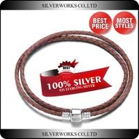 Colored Double Wrap Leather Bracelet,925 Sterling Silver Braided Rope Bracelet