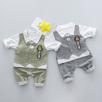 Hot Sale 2018 Spring Baby Clothes Sets Cute Infant Cotton Suits Vest+T Shirt+Pants Casual Kids Children Suits