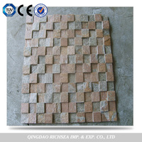 6mm/8mm/10mm thickness 3d wall decoration slate mosaic tiles