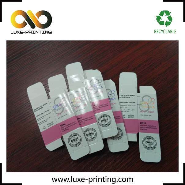 print your branded logo laser holographic paper 10ml vial packaging