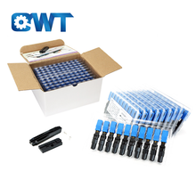 QWT ftth sc lc afl upc equipment pre-embedded quick connect fiber optic fast connectors kit