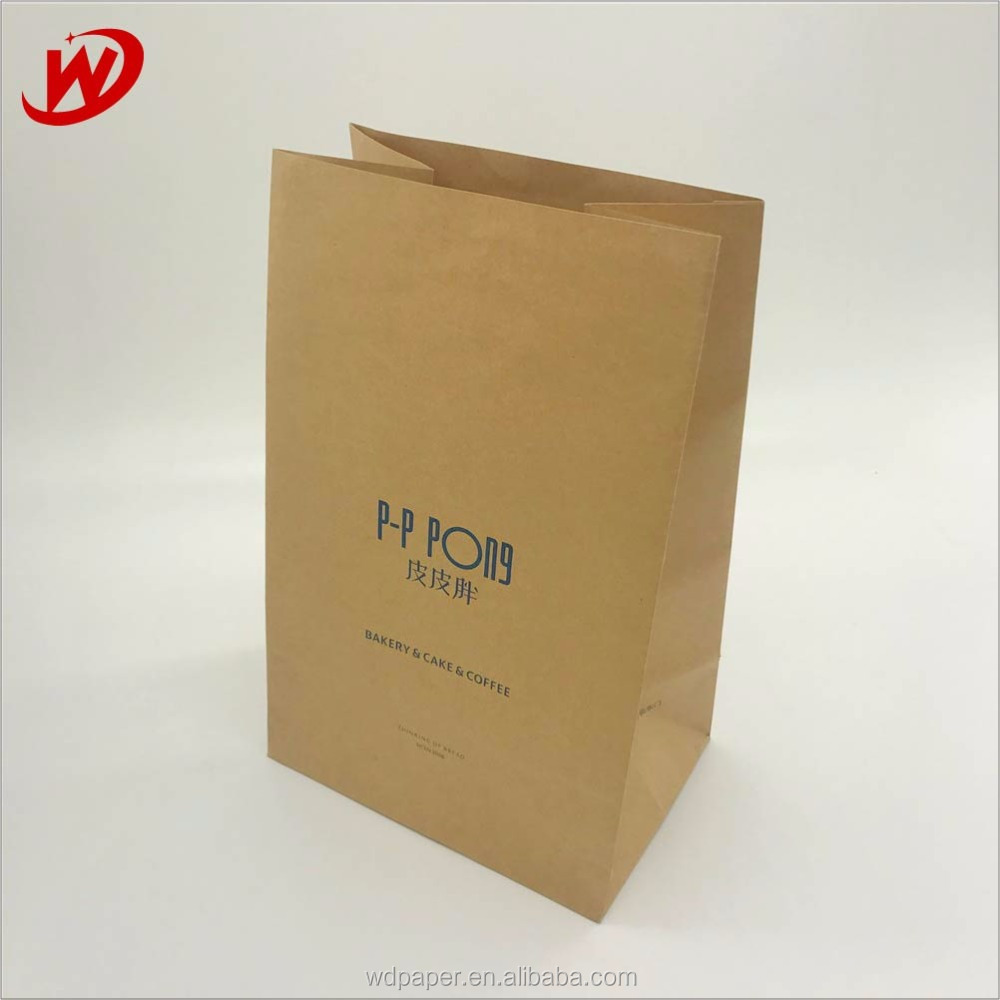 Yiwu New Arrived plain handmade brown durable large no handle blank Grocery paper bags