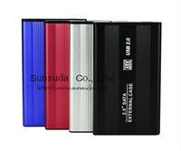 Super Slim 2.5inch Aluminum hdd external case support 1TB hard disk