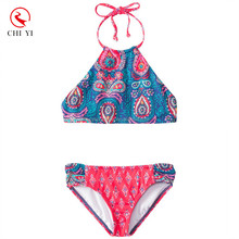 2017 Shiny Children Bathing Suit Kid Frozen Beachwear Children Bikini for Girls