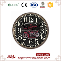 Unique style freedom red motors black dial clock cheap art craft models