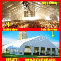 White Curve Marquee Tent For Brand Ceremony 1000 People Seater Guest