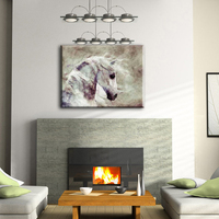 Printed upscale hotel horse animal canvas wall art canvas painting