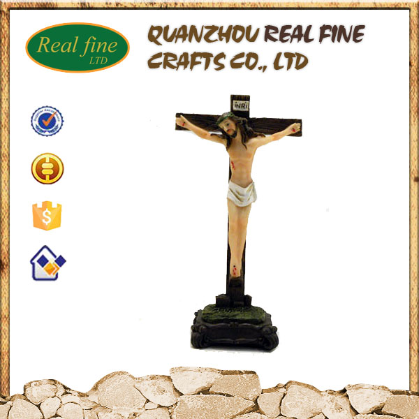 Catholic religious resin cross for church decoration