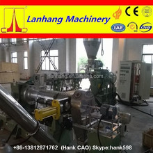 Co-rotating parallel twin screw extruder plastic pelletizing line