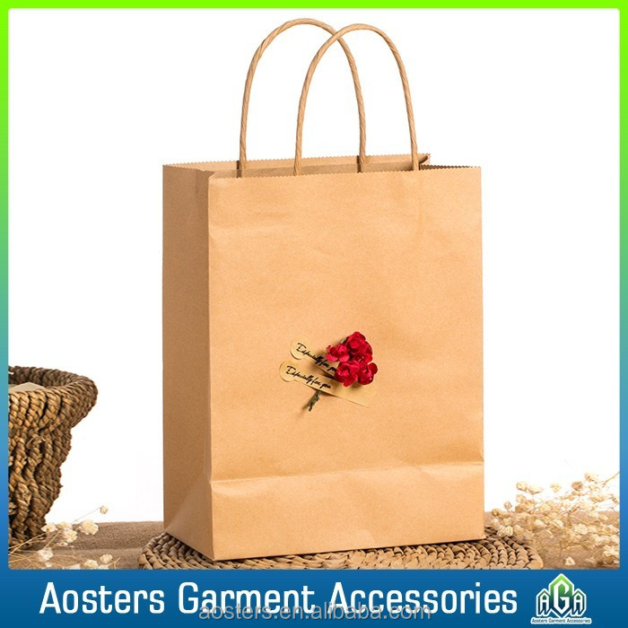 cheaper price custom print kraft paper shopping bag