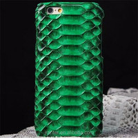 Luxury quality real python snakeskin genuine leather case for iphone 6