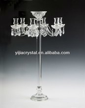 Wedding Crystal Candelabra, Crystal Glass Candleholder for Table Centerpiece