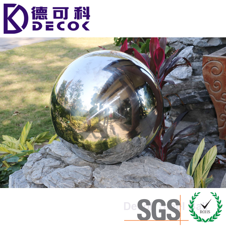 18 Inch Hollow Stainless Steel Ball Garden Ornament