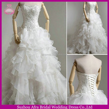 SW745 very beautiful organza ruffle cheap tailored wedding dresses china