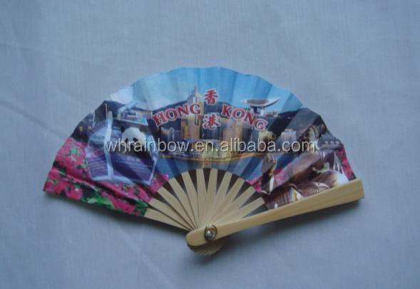 mini hand fan with bamboo ribs