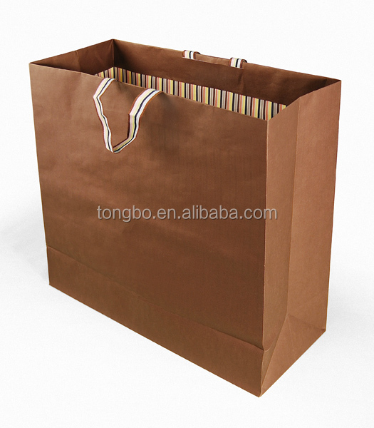 China professional custom shopping gift paper bag handle